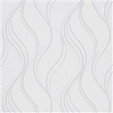 Vliesové tapety na zeď Bali vlnovky bílo-šedé