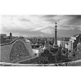 Luxusní vliesové fototapety Barcelona - černobílé, rozměr 418,5 cm x 270 cm