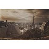 Luxusní vliesové fototapety Barcelona - sépie, rozměr 418,5 cm x 270 cm