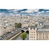 Luxusní vliesové fototapety Paříž - barevné, rozměr 418,5 cm x 270 cm