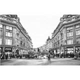 Luxusní vliesové fototapety Londýn - černobílé, rozměr 418,5 cm x 270 cm