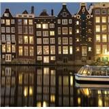 Luxusní vliesové fototapety Amsterdam - barevné, rozměr 279 cm x 270 cm