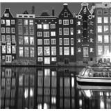 Luxusní vliesové fototapety Amsterdam - černobílé, rozměr 279 cm x 270 cm