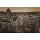 Luxusní vliesové fototapety Madrid - sépie, rozměr 418,5 cm x 270 cm