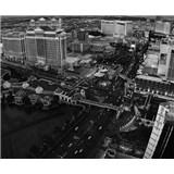 Luxusní vliesové fototapety Las Vegas - černobílé, rozměr 325,5 cm x 270 cm