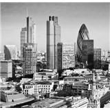 Luxusní vliesové fototapety Londýn - černobílé, rozměr 279 cm x 270 cm