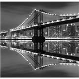 Luxusní vliesové fototapety New York - černobílé, rozměr 279 cm x 270 cm