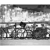 Luxusní vliesové fototapety Amsterdam - černobílé, rozměr 325,5 cm x 270 cm