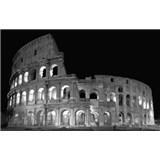 Luxusní vliesové fototapety Řím - černobílé, rozměr 418,5 cm x 270 cm