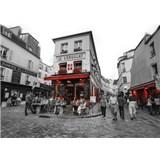 Luxusní vliesové fototapety Paříž - černobílé, rozměr 372 cm x 270 cm