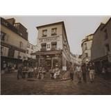 Luxusní vliesové fototapety Paříž - sépie, rozměr 372 cm x 270 cm