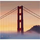 Luxusní vliesové fototapety San Francisco - barevné, rozměr 279 cm x 270 cm