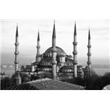 Luxusní vliesové fototapety Istanbul - černobílé, rozměr 418,5 cm x 270 cm