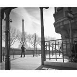 Luxusní vliesové fototapety Paříž - černobílé, rozměr 325,5 cm x 270 cm