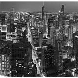 Luxusní vliesové fototapety Chicago - černobílé, rozměr 279 cm x 270 cm