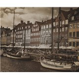 Luxusní vliesové fototapety Copenhagen - sépie, rozměr 325,5 cm x 270 cm