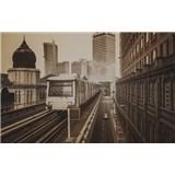 Luxusní vliesové fototapety Kuala Lumpur - sépie, rozměr 418,5 cm x 270 cm