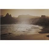 Luxusní vliesové fototapety Rio de Janeiro - sépie, rozměr 418,5 cm x 270 cm
