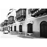 Luxusní vliesové fototapety Lima - černobílé, rozměr 418,5 cm x 270 cm
