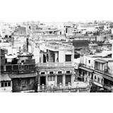 Luxusní vliesové fototapety Delhi - černobílé, rozměr 418,5 cm x 270 cm