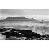 Luxusní vliesové fototapety Cape Town - černobílé, rozměr 418,5 cm x 270 cm