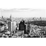 Luxusní vliesové fototapety Tokyo - černobílé, rozměr 418,5 cm x 270 cm