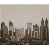 Luxusní vliesové fototapety Jakarta - sépie, rozměr 325,5 cm x 270 cm