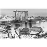Luxusní vliesové fototapety Singapore - černobílé, rozměr 418,5 cm x 270 cm