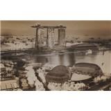 Luxusní vliesové fototapety Singapore - sépie, rozměr 418,5 cm x 270 cm