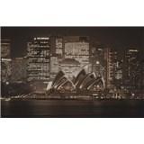 Luxusní vliesové fototapety Sydney - sépie, rozměr 418,5 cm x 270 cm