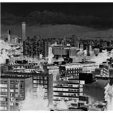 Luxusní vliesové fototapety Santiago - černobílé, rozměr 418,5 cm x 270 cm