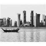 Luxusní vliesové fototapety Doha - černobílé, rozměr 325,5 cm x 270 cm