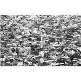 Luxusní vliesové fototapety Rajasthan - černobílé, rozměr 418,5 cm x 270 cm