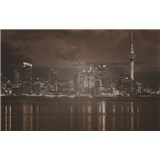 Luxusní vliesové fototapety Auckland - sépie, rozměr 418,5 cm x 270 cm