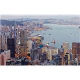 Luxusní vliesové fototapety Hong Kong - barevné, rozměr 418,5 cm x 270 cm