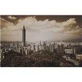 Luxusní vliesové fototapety Taipei - sépie, rozměr 418,5 cm x 270 cm