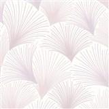 Vliesové tapety na zeď Collection paprskový vzor růžovo-fialový na bílém podkladu s třpytkami