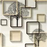 Samolepící fólie stromy s rámečky s 3D efektem 45 cm x 10 m
