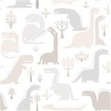 Vliesové tapety na zeď dinosaurus hnědo-šedý