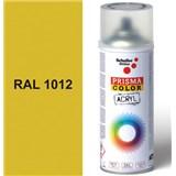 Sprej žlutý lesklý 400ml, odstín RAL 1012 barva citrónově žlutá lesklá