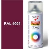 Sprej červený lesklý 400ml, odstín RAL 4004 barva bordová fialová lesklá