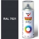 Sprej šedý lesklý 400ml, odstín RAL 7021 barva černošedá lesklá