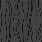 Vliesové tapety na zeď vlnovky černé