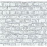 Vliesové tapety na zeď Easy Wall cihla šedo-bílá