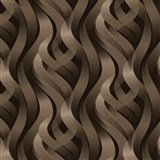 Vliesové tapety na zeď Kinetic 3D abstrakt hnědý