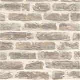 Vliesové tapety na zeď Roll in Stones kamenná zeď světle hnědá