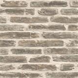 Vliesové tapety na zeď Roll in Stones kamenná zeď šedo-béžová