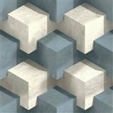 Vliesové tapety na zeď PRISME 3D kostky bílo-modré