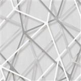 Vliesové tapety na zeď IMPOL Galactik 3D hrany šedo-stříbrné na šedém podkladu