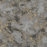 Vliesové tapety na zeď IMPOL Reflets mramor šedo-černý se zlatými odlesky